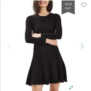 Topshop Ribbed Fit and Flare Dress 6